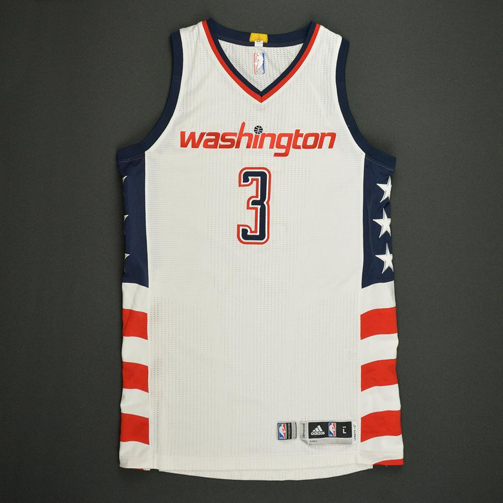Bradley Beal - Washington Wizards -White Playoffs Game-Worn Jersey - 2016-17 Season