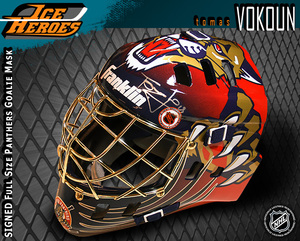 TOMAS VOKOUN Signed Florida Panthers Full Size Goalie Mask