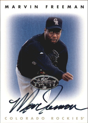 Photo of 1996 Leaf Signature Autographs Silver #73 Marvin Freeman