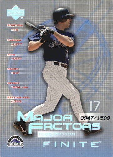 Photo of 2003 Upper Deck Finite #146 Todd Helton MF