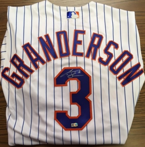 Photo of Curtis Granderson Autographed Mets Authentic Jersey