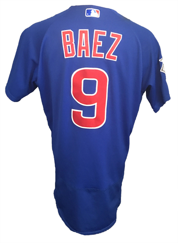 Photo of Javier Baez Game-Used Jersey -- Baez 2 Hits, 3-Run HR (17th of Season) -- Cubs at Diamondbacks -- 8/13/17