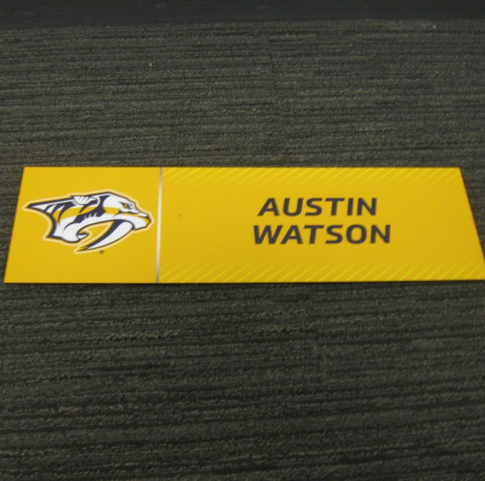 Austin Watson 2017 Stanley Cup Final Media Name Plate - Nashville Predators