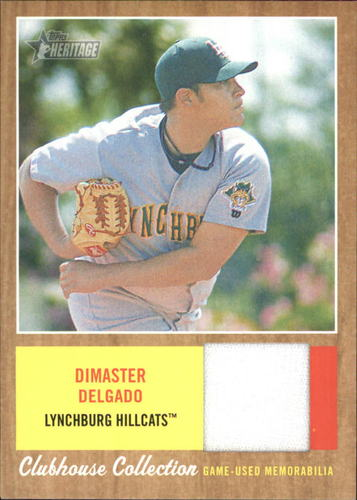 Photo of 2011 Topps Heritage Minors Clubhouse Collection Relics #DD Dimaster Delgado