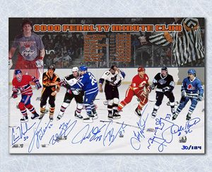 NHL Hockey 3000 Penalty Minute Club Autograpehd 14X20 Print #/124 - 8 Signatures *Domi, Ray, Williams, etc*