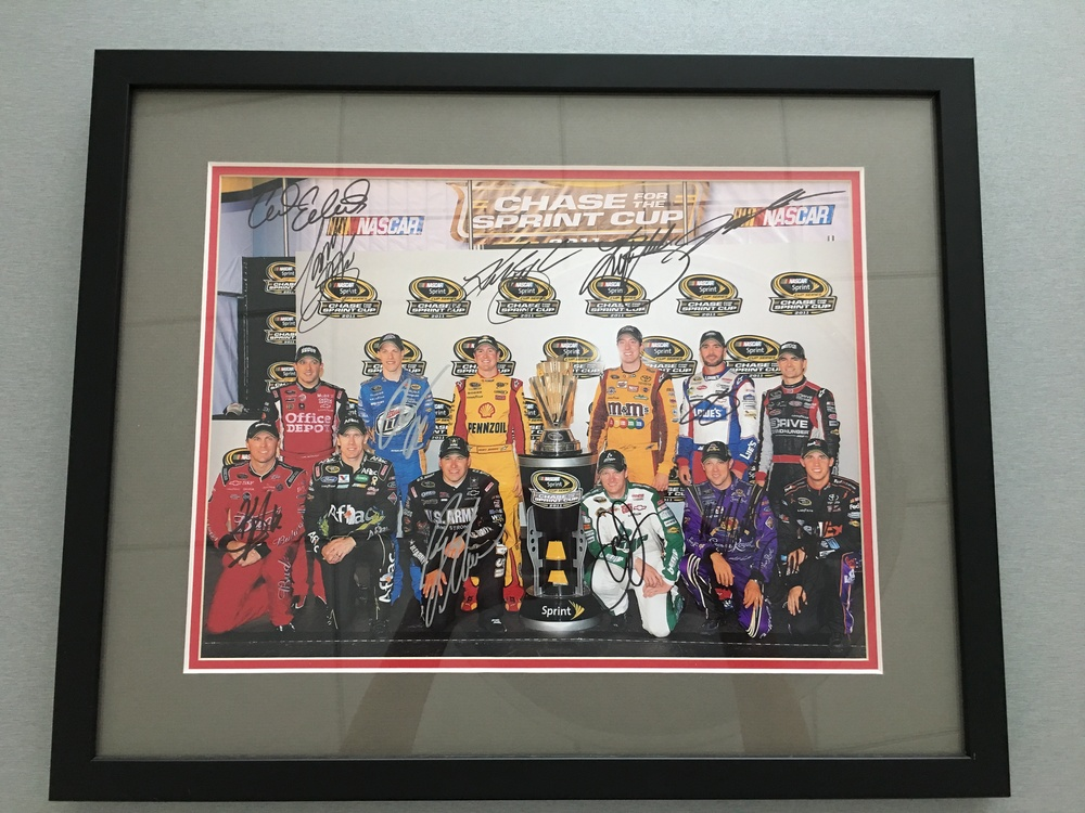 2011 NASCAR Chase Photo Autographed by all 12 Monster Energy Cup Series Drivers