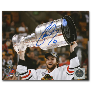 Michael Frolik Autographed Chicago Blackhawks 2013 Stanley Cup 8X10 Photo