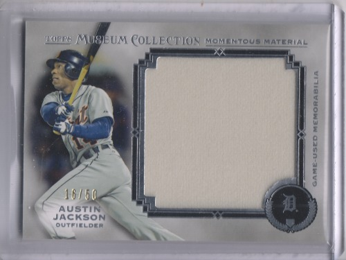 Photo of 2013 Topps Museum Collection Momentous Material Jumbo Relics Austin Jackson 4/50 -- Indians post-sea