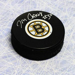Jon Casey Boston Bruins Autographed Hockey Puck