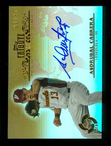 Photo of 2013 Topps Tribute WBC Autographs Sepia #AC Asdrubal Cabrera