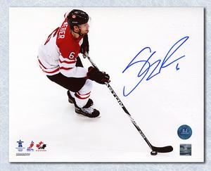 Shea Weber Team Canada Autographed 2010 Olympic Hockey Action 8x10 Photo