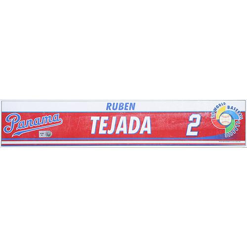 Photo of 2009 World Baseball Classic: Ruben Tejada (PAN) Game-Used Locker Name Plate