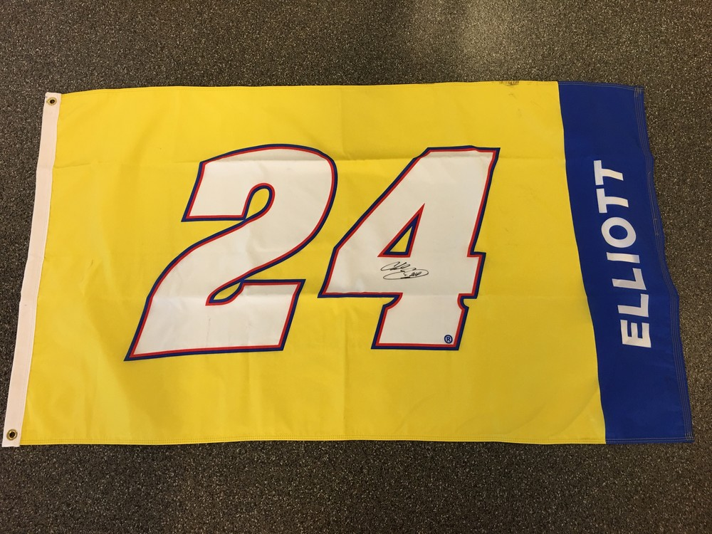 2016 #24 flag Autographed by Monster Energy Cup Series Driver Chase Elliott