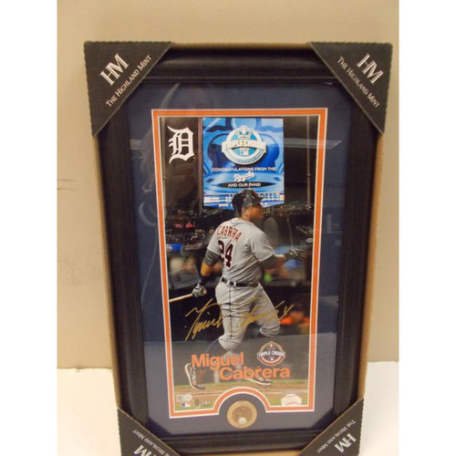 Photo of Autographed Framed Miguel Cabrera Triple Crown Photo (Limited Edition 24 of 24)