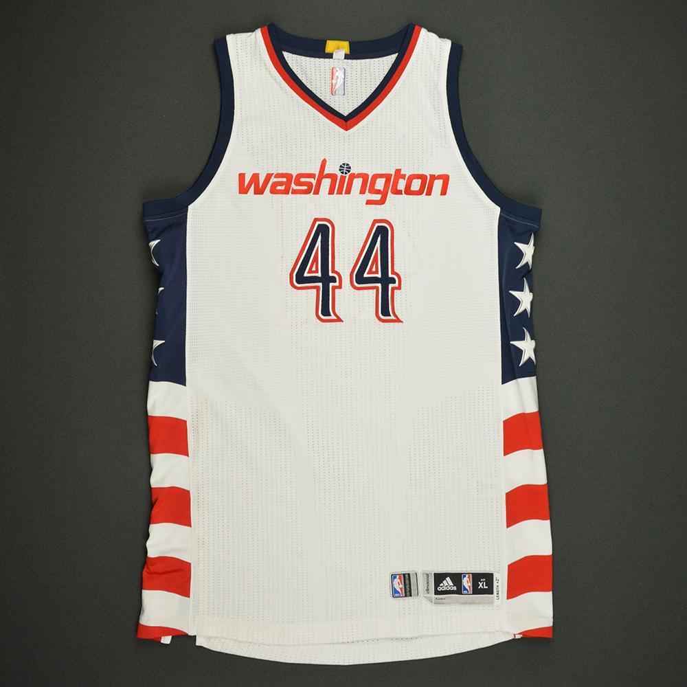 Bojan Bogdanovic - Washington Wizards -White Playoffs Game-Worn Jersey - 2016-17 Season