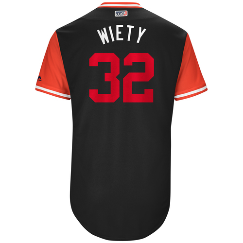 "Photo of Matt ""Wiety"" Wieters Washington Nationals Game-Used Players Weekend Jersey"