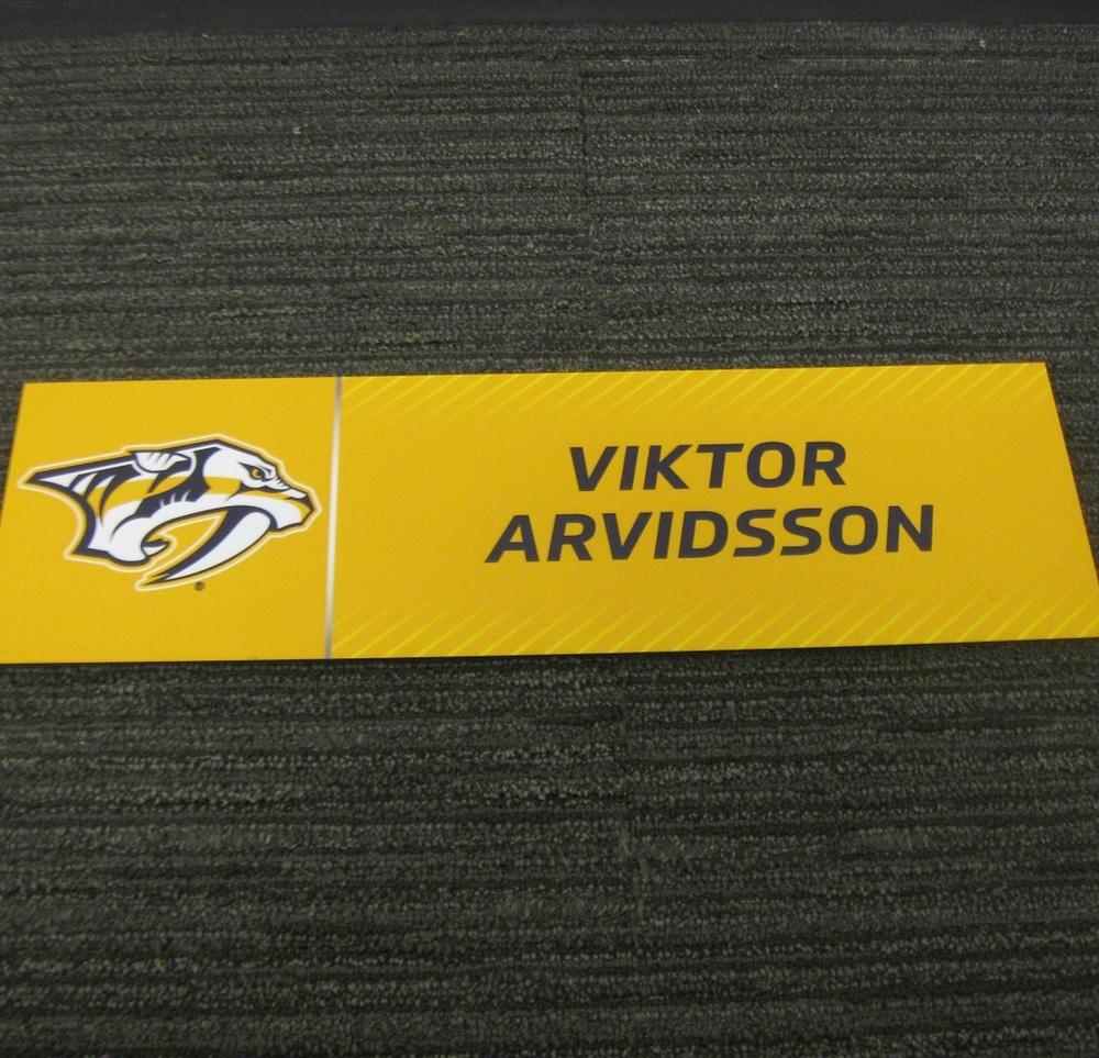 Viktor Arvidsson 2017 Stanley Cup Final Media Name Plate - Nashville Predators