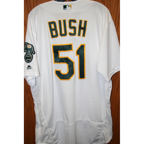 """Photo of Darren Bush Game-Used """"Atleticos"""" Jersey"""