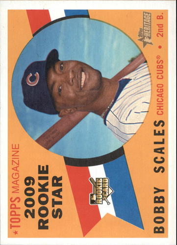 Photo of 2009 Topps Heritage #520 Bobby Scales RC