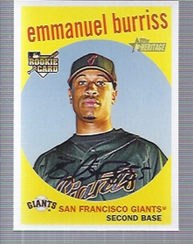 Photo of 2008 Topps Heritage #589 Emmanuel Burriss RC