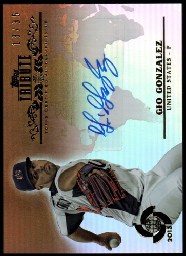 Photo of 2013 Topps Tribute WBC Autographs Sepia #GG Gio Gonzalez EXCH