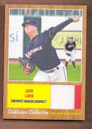 Photo of 2011 Topps Heritage Minors Clubhouse Collection Relics #JL John Lamb