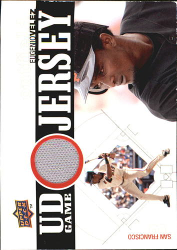 Photo of 2010 Upper Deck UD Game Jersey #EV Eugenio Velez