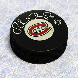 Patrice Brisebois Montreal Canadiens Autographed Hockey Puck
