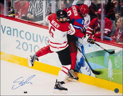 SHEA WEBER Team Canada SIGNED 16x20 2010 Olympic Photo