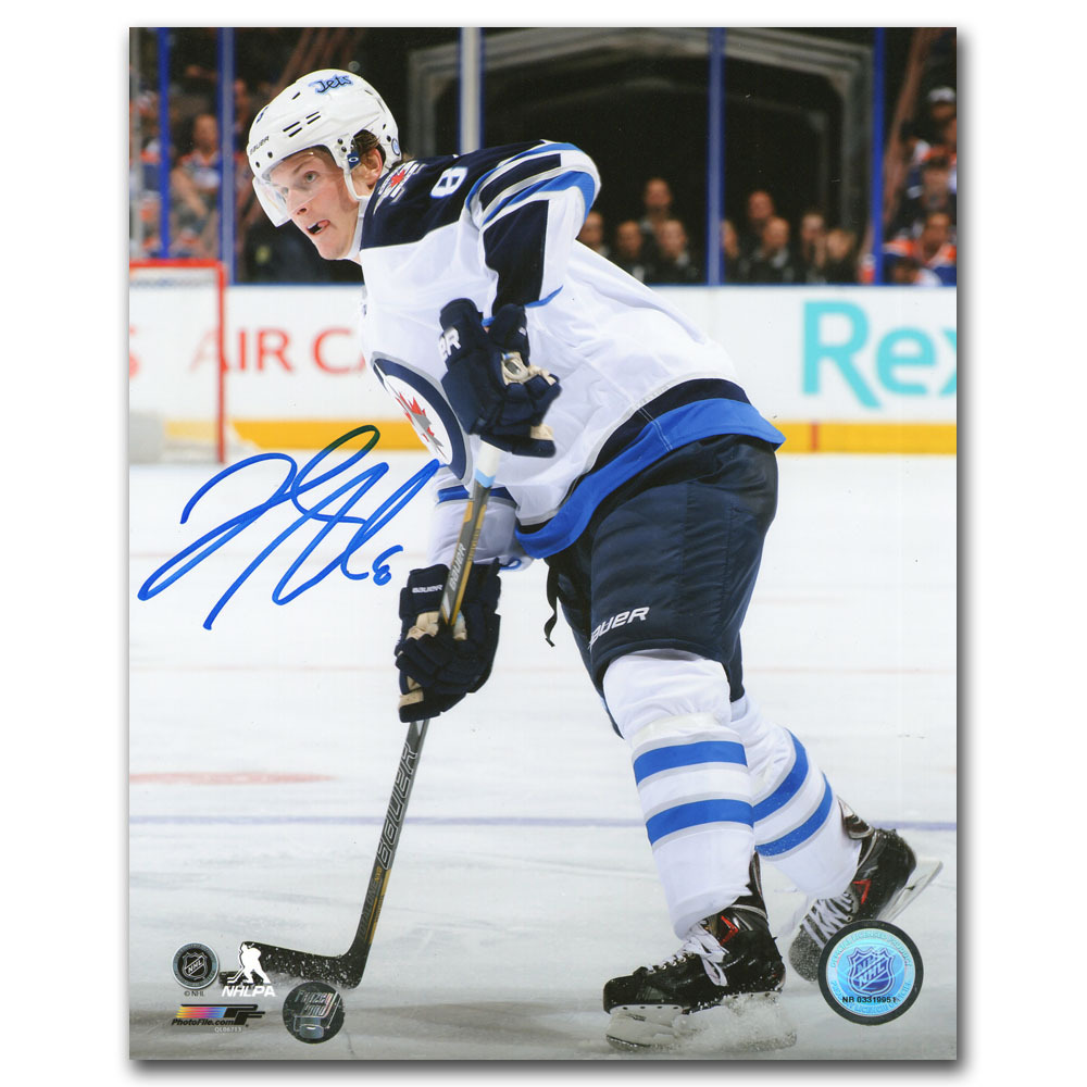 Jacob Trouba Autographed Winnipeg Jets 16X20 Photo
