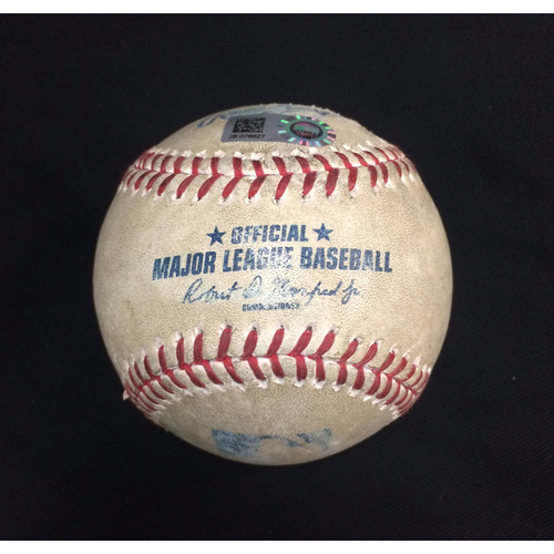 Photo of Game-Used Baseball from August 10, 2017: Chicago White Sox vs. Houston Astros