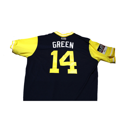 "Photo of Andy ""Green"" Green San Diego Padres Game-Used Players Weekend Jersey"