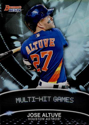 Photo of 2016 Bowman's Best Stat Lines #SLJAL Jose Altuve  -- Astros post-season