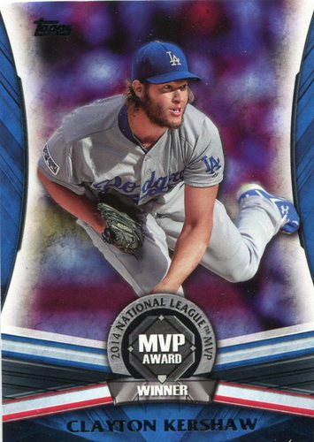 Photo of 2017 Topps Update MVP Award #MVP4 Clayton Kershaw
