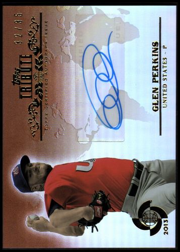 Photo of 2013 Topps Tribute WBC Autographs Sepia #GP Glen Perkins