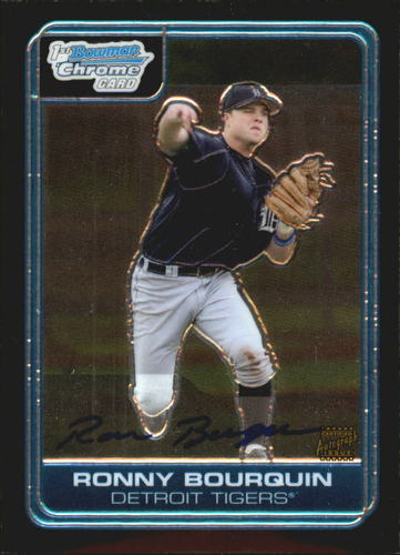 Photo of 2006 Bowman Chrome Draft Draft Picks #70 Ronnie Bourquin AU