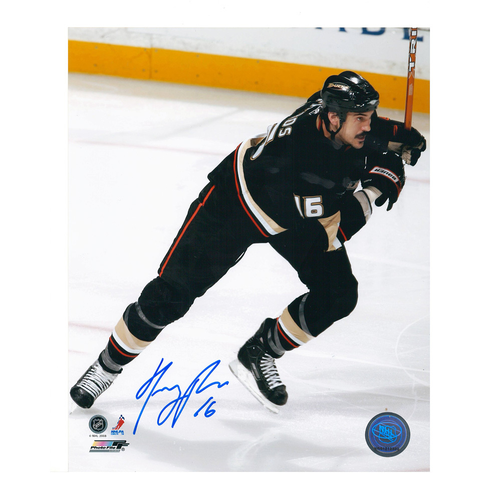 GEORGE PARROS Signed Anaheim Ducks 8 X 10 Photo - 70202