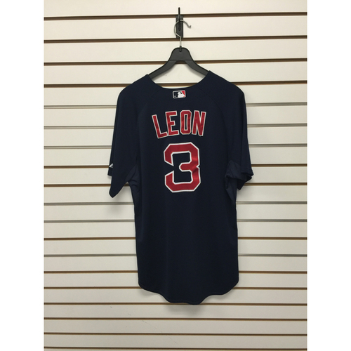 Photo of Sandy Leon Game-Used 2015 Road Alternate Jersey