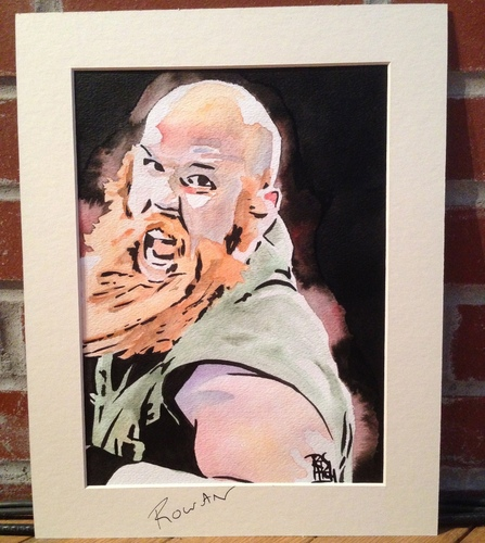 Erick Rowan Signed Painting by Rob Schamberger