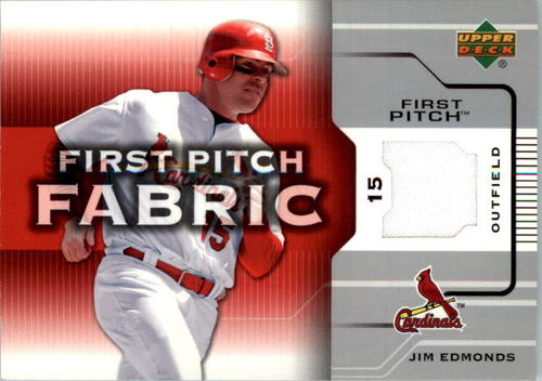 Photo of 2005 Upper Deck First Pitch Fabric #JE Jim Edmonds Jsy