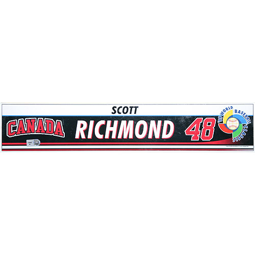 Photo of 2009 World Baseball Classic: Scott Richmond (CAN) Game-Used Locker Name Plate