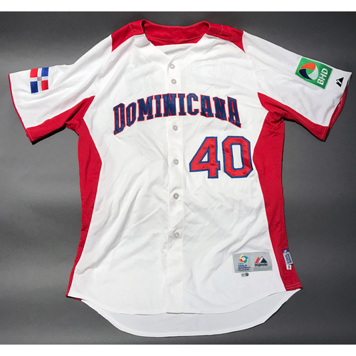 Photo of 2013 World Baseball Classic Jersey - Dominican Republic Home Jersey, Kelvin Herrera #40