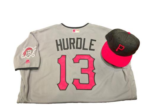 Photo of Clint Hurdle Game-Used Mother's Day Jersey and Hat