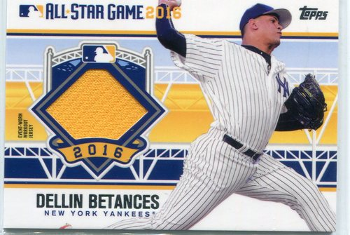 Photo of 2016 Topps Update All-Star Stitches Dellin Betances -- Yankees post-season