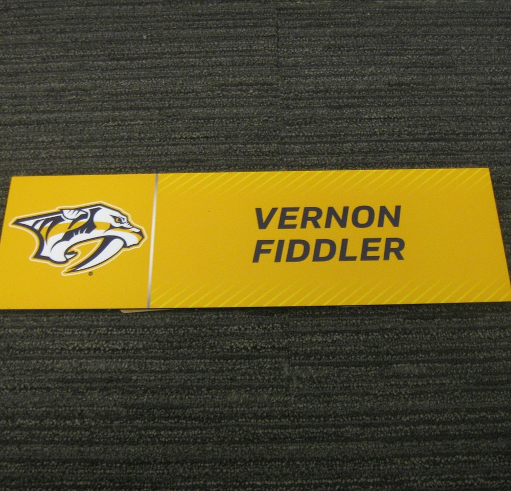 Vernon Fiddler 2017 Stanley Cup Final Media Name Plate - Nashville Predators