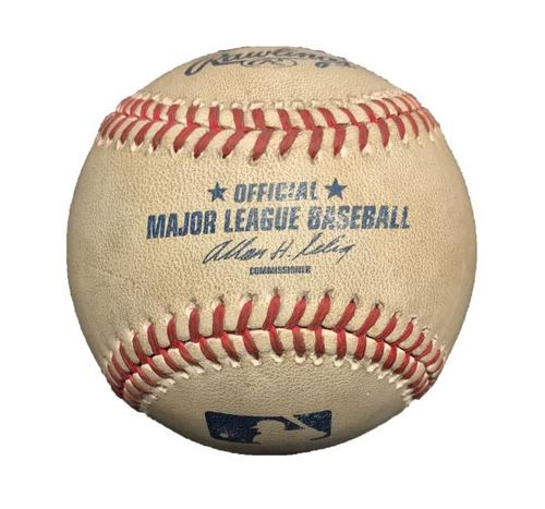 Photo of Game-Used Baseball from Pirates vs. Phillies on 7/4/13 - Mazzaro to Hamels, Hit by Pitch