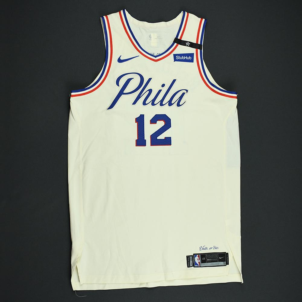 TJ McConnell - Philadelphia 76ers - 2018 NBA Playoffs Game-Worn City Jersey
