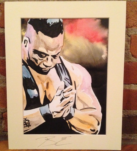Big E Signed Painting by Rob Schamberger