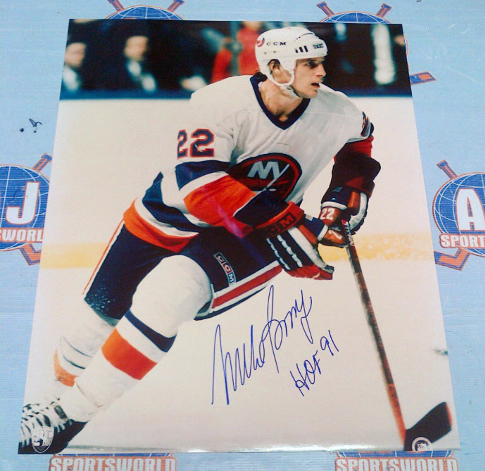 MIKE BOSSY New York Islanders AUTOGRAPHED 16X20 Photo