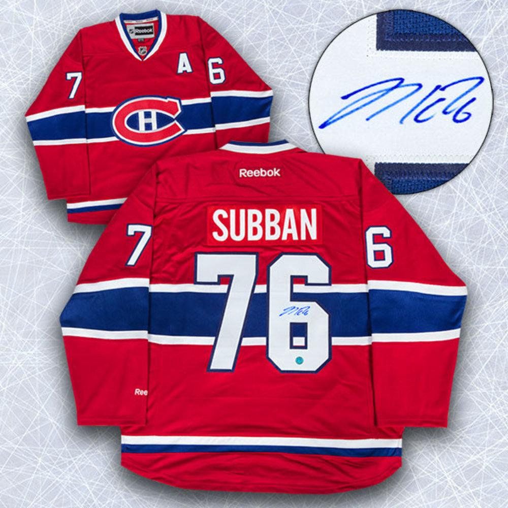 P.K. Subban Montreal Canadiens Autographed Reebok Premier Hockey Jersey